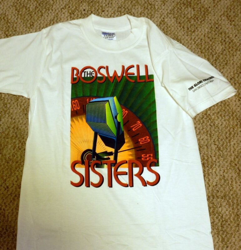 The Boswell Sisters Colorful T-Shirt w/Microphone Limited Edition SIZE SMALL