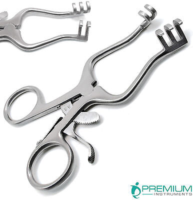 Surgical Weitlaner Retractors 4.5 Blunt 3x4 Prongs Premium Instruments