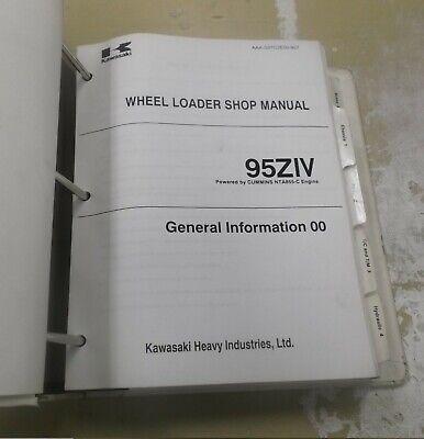 Kawasaki 95z-iv Wheel Loader Factory Shop Service Repair Manual