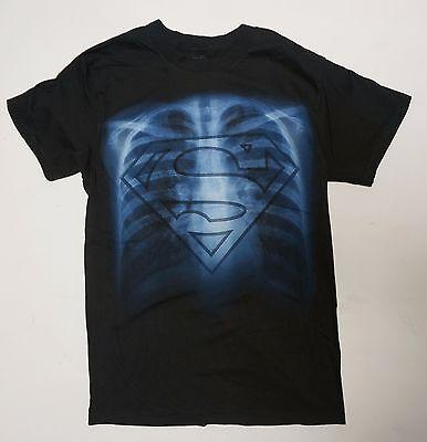 Super man Symbol DC Comics exray bones Black dark NWOT Small -2XL  - Super Man Symbol
