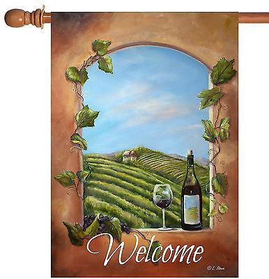 Toland Vineyard View Welcome 28 x 40 Rustic Tuscany Wine Hou