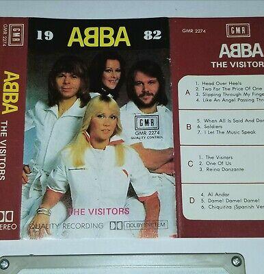 ABBA THE VISITORS 1982 CASSETTE TAPE GMR RECORDS 2274 POP ROCK DISCO EDM DANCE