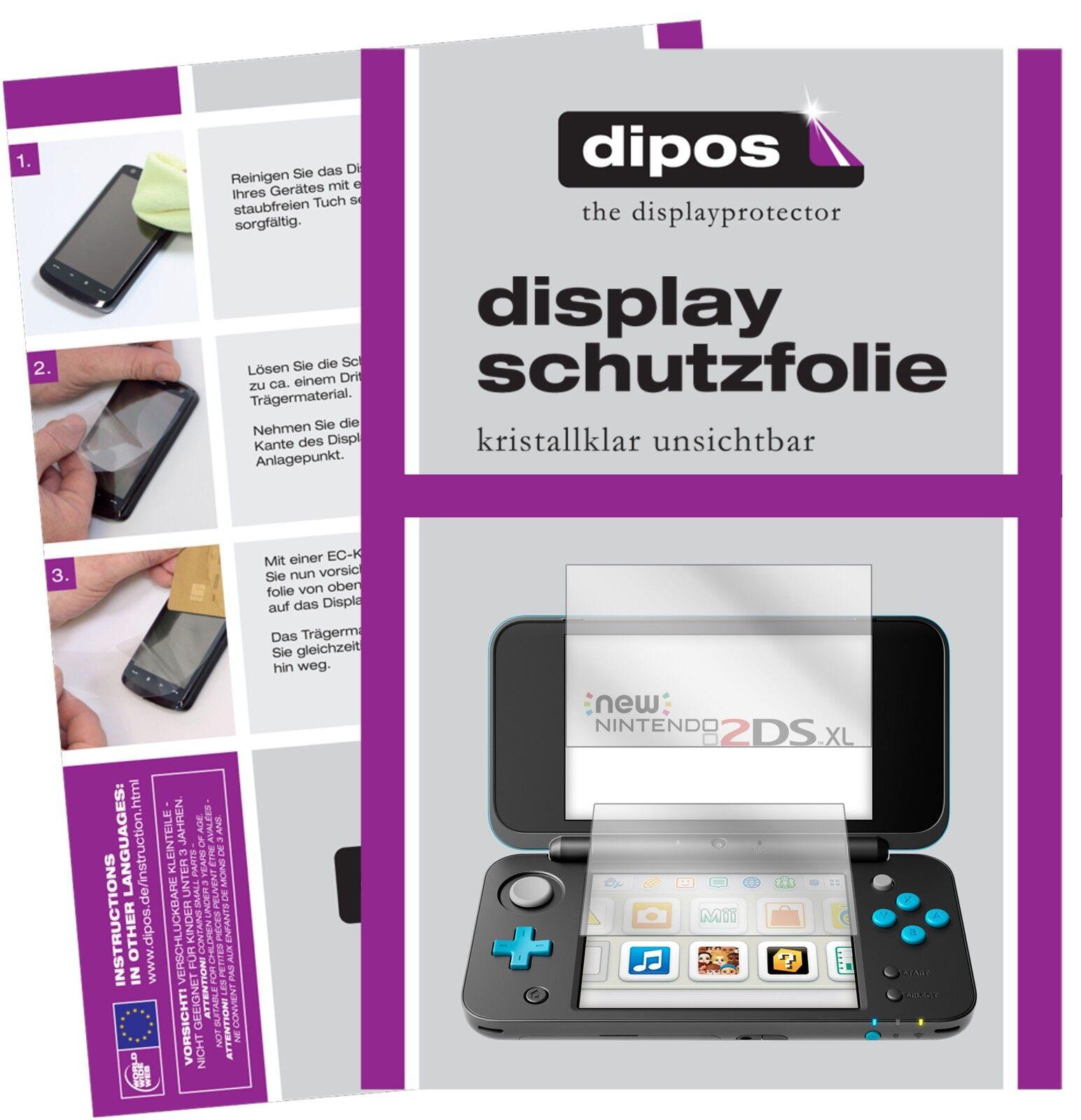 2x Nintendo 2DS XL Schutzfolie klar Displayschutzfolie Folie Display Schutz
