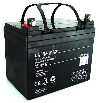 12V 35AH (33AH - 34AH) 36 Holes ULTRA MAX NPG35-12 GEL TYPE GOLF TROLLEY BATTERY