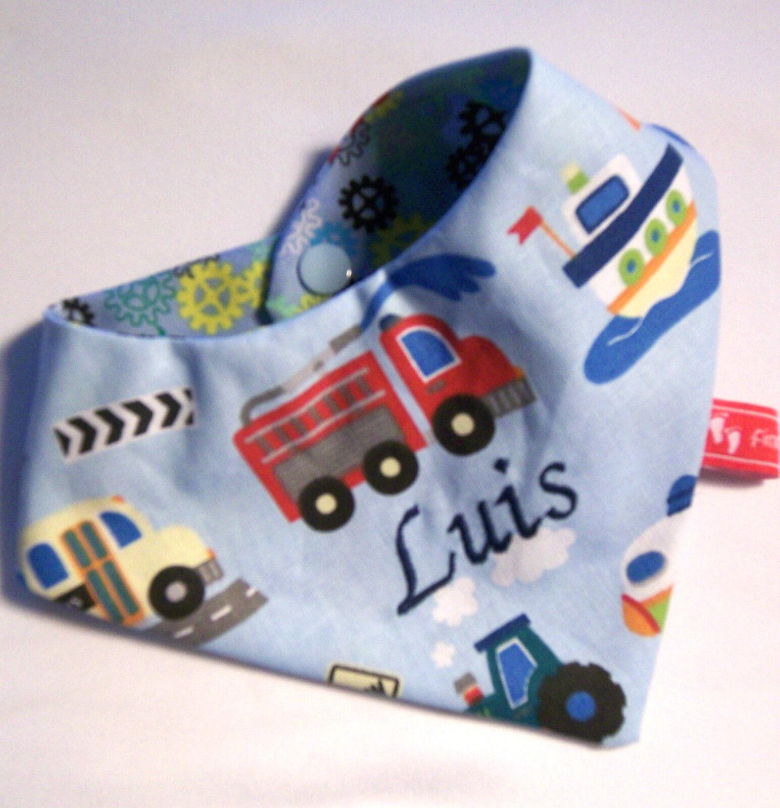 Baby-Halstuch Kinderhalstuch Sabberschutz Fahrzeuge,Feuerwehr f&f Jungentuch