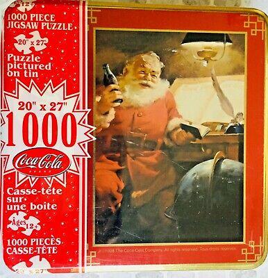 Coca Cola VTG Santa Jigsaw Puzzle 1000 Piece Collectible Tin (c)1998 SEALED NEW!