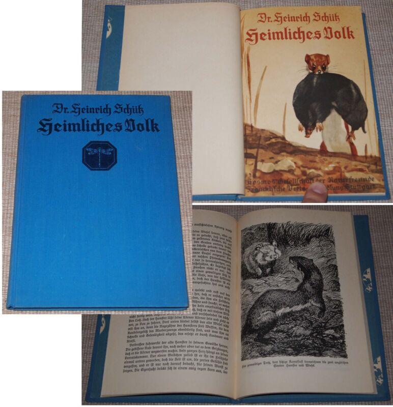 Dr. Heinrich Schütz HEIMLICHES VOLK Franckh-Kosmos Stuttgart 1931
