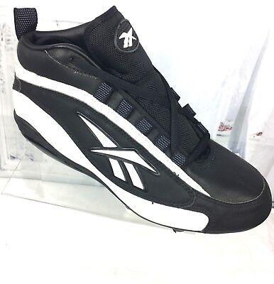 Reebok Football Cleats TENACIOUS  88 Men s Black White Shoes 9.5 f9778b862