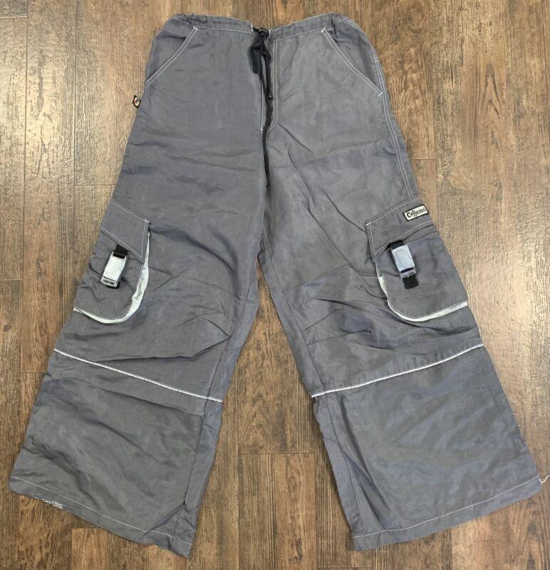 Vintage Caffeine Rave Baggy Pants Men's Size Medium Adjustable Made In USA!