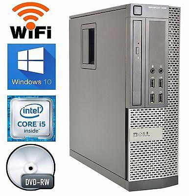 Dell 990 Desktop Windows 10 PRO Computer 3.1GHz Intel Core i5 Quad 8GB RAM WIFI