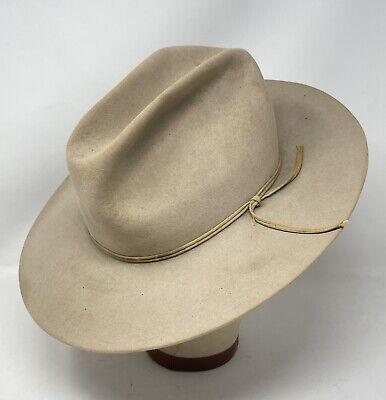 1950s Mens Hats | 50s Vintage Men's Hats Vintage 1950's Resistol Self Conforming Beaver Western Rancher Hat $99.95 AT vintagedancer.com