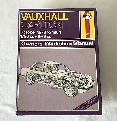 Vauxhall Carlton 1978-84 1796-1979cc Owners Workshop Manual 480 Haynes 1985