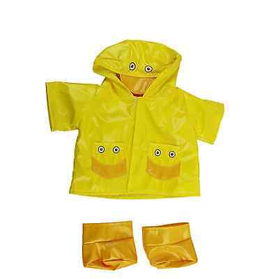 """Yellow Duck Raincoat outfit/clothes to fit 15""""/16"""" build a bear factory"""