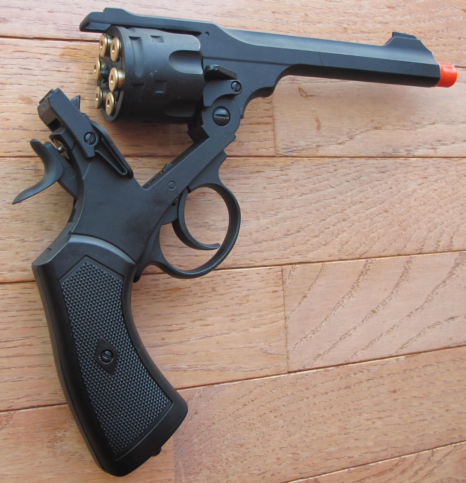 Wellfire CO2 Powered British Webley Top-Break Revolver Metal