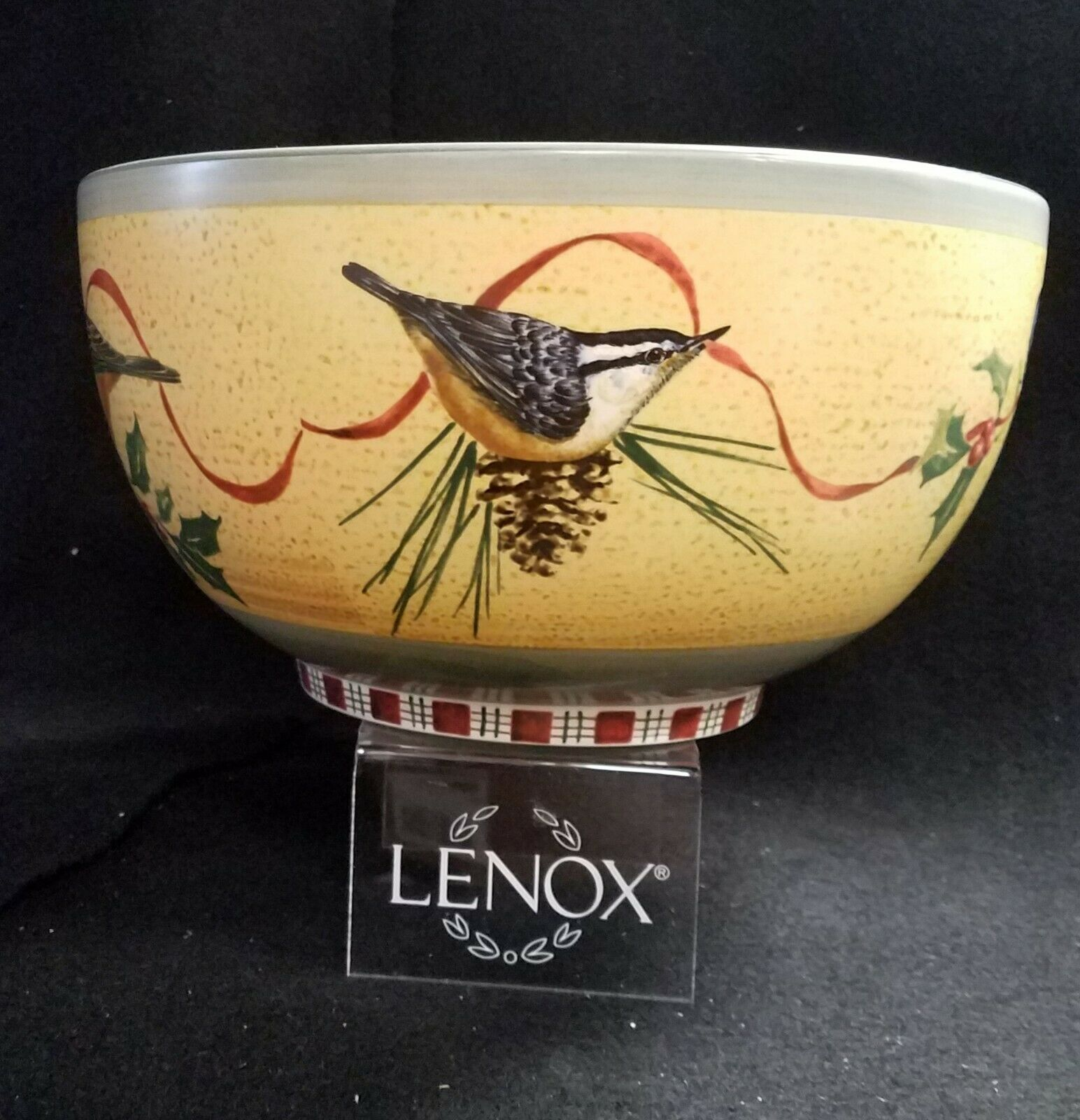 LENOX WINTER GREETINGS Large Serving Bowl 11 Made In Portugal - $169.95