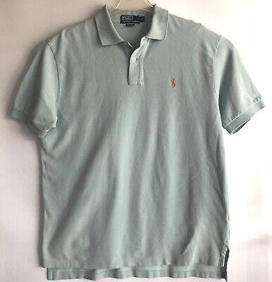 POLO RALPH LAUREN Mens Short Sleeve Shirt Aqua Green Size XL