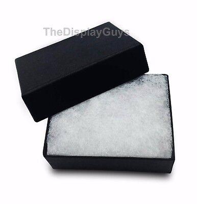 Lot Of 12 Pcs 1 78x1 14x58 Matte Black Cotton Filled Jewelry Gift Boxes
