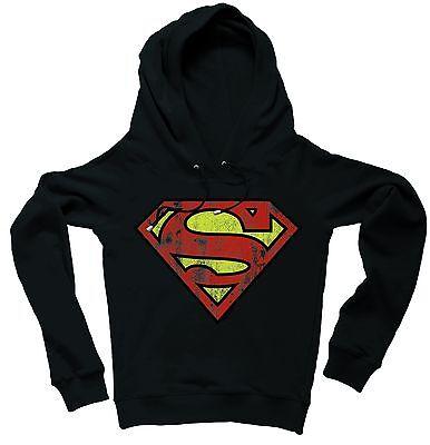 LOGOSHIRT - DC Comics Superman Logo Kapuzen Sweatshirt Raglan Hoodie, dunkelblau - Raglan Hoodie Sweatshirt