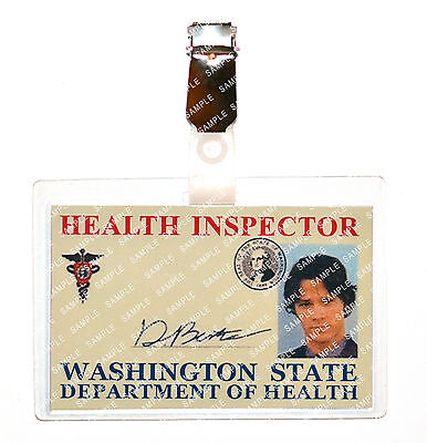 Supernatural Sam Winchester Health Inspector ID Badge Cosplay Costume Comic Con
