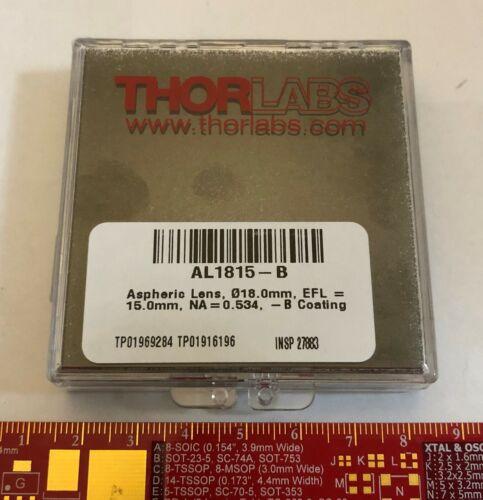 Thorlabs AL1815-B - Ø18 mm S-LAH64 Aspheric Lens, f=15 mm NA=0.54 ARC:650-1050nm