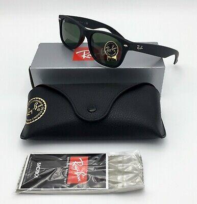 Ray-Ban® NEW WAYFARER RB2132 622 Black Sunglasses CLASSIC GREEN G-15 GLASS (Rb2132 New Wayfarer 622 52)