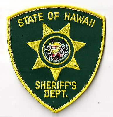 STATE OF HAWAII SHERIFF'S DEPT. - SHOULDER - IRON ON PATCH
