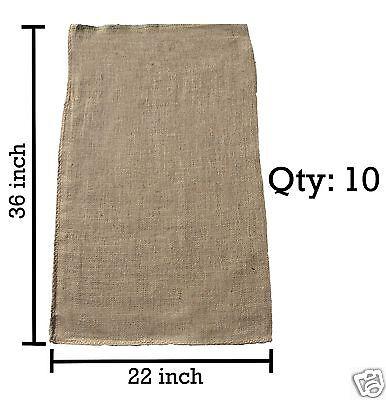 10 22x36 Burlap Bags, Burlap Sacks, Potato Sack Race Bags, Sandbags, Gunny Sack