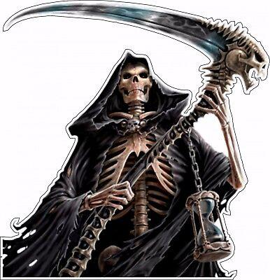 Grim Reaper Box Bumper Sticker Vinyl - Grim Reaper Animation