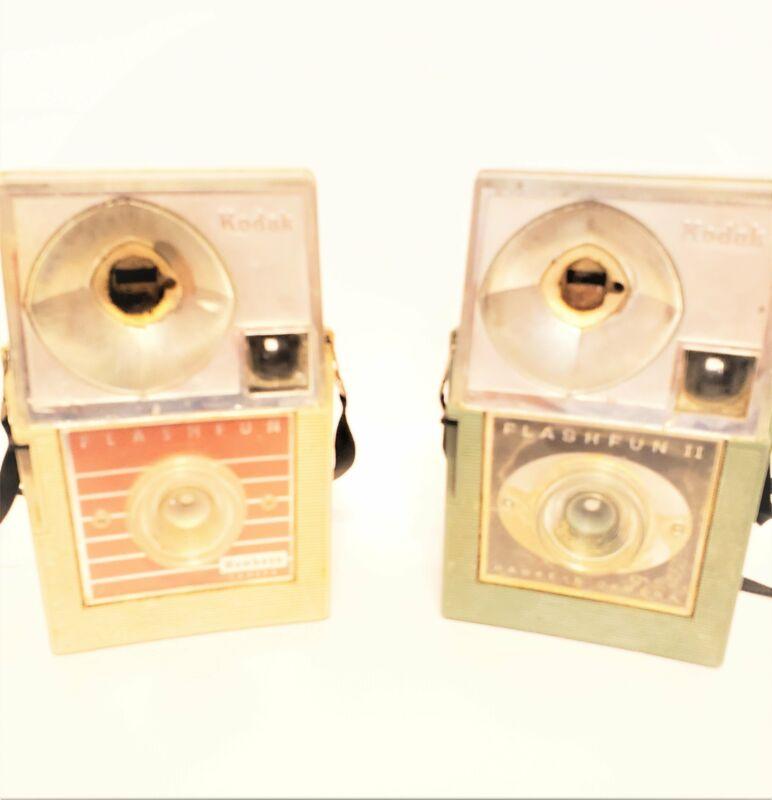 "Flash Fun & Flash Fun 2 Vintage Kodak ""Hawkeye"" Camera"