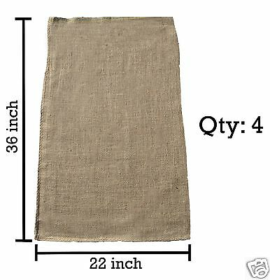 4 - 22x36 Burlap Bags, Burlap Sacks, Potato Sack Race Bags, Sandbags, Gunny Sack for sale  Shipping to Canada