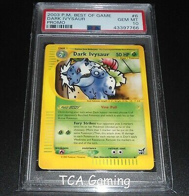 PSA 10 GEM MINT Dark Ivysaur #6 BEST OF GAME Promo Pokemon (Best Dark Pokemon Cards)