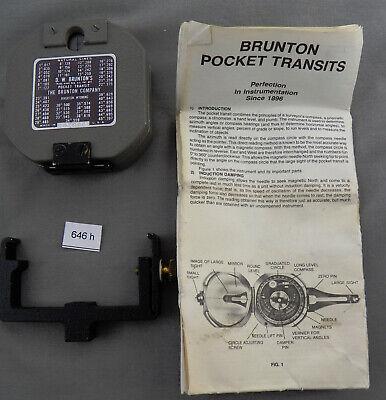 Vintage Metal Brunton Compass Case Tripod Adapter All Excellent