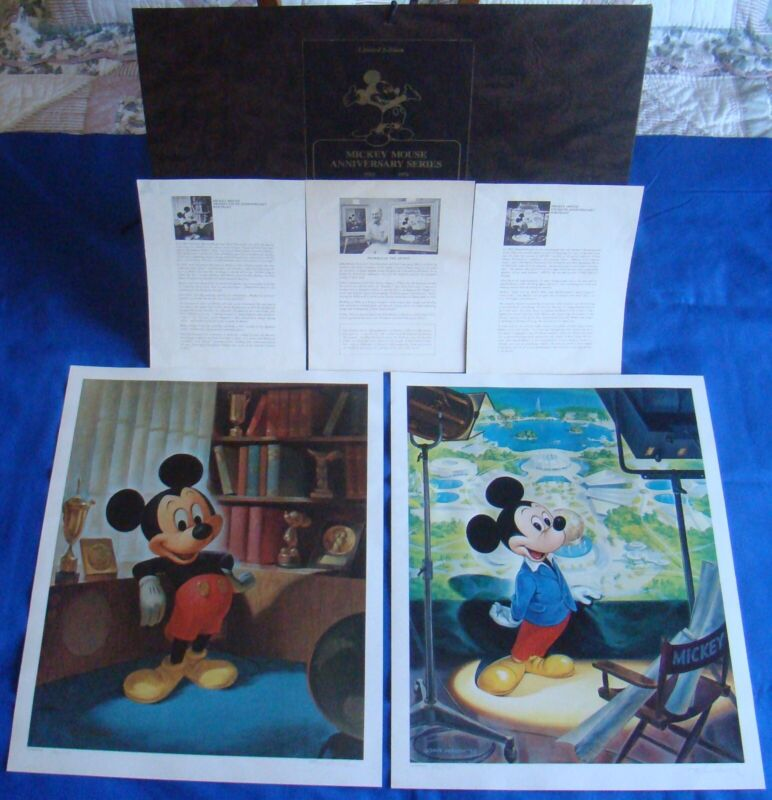 Walt Disney 75th Anniversary Mickey Mouse Lithograph