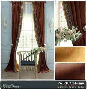 Unique Velvet Curtain Made to Order $24/m  Lace from $26(No.1525)