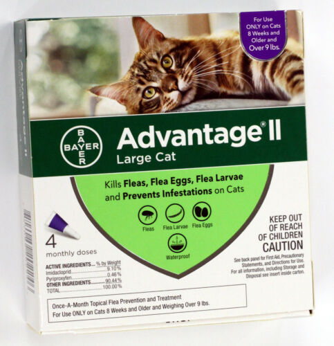 Advantage II Flea Treatment for Large Cats over 9lbs 4 Months