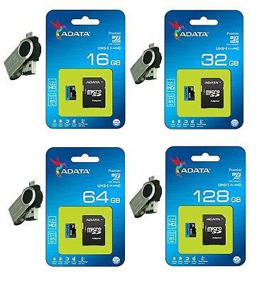 ADATA 16GB 32GB 64GB 128GB MicroSD SDHC SDXC Class 10 Memory Card USB OTG Reader ()