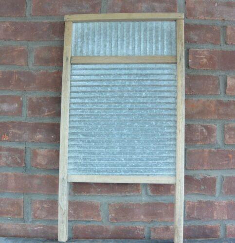 Vintage Galvanized Tin Washboard, Unbranded