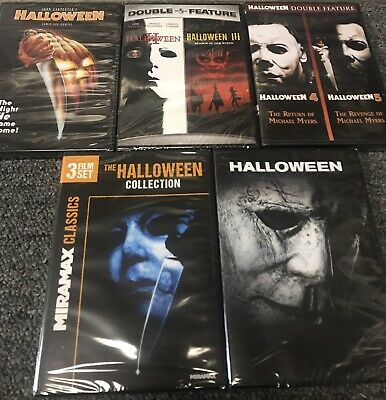 Halloween 1 2 3 (HALLOWEEN COMPLETE COLLECTION DVD NEW! 1-9! 1,2,3,4,5, CURSE, H20,)