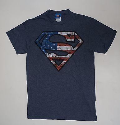 Super man Symbol DC Comics american flag dark Blue NWOT Small Medium XL  - Super Man Symbol