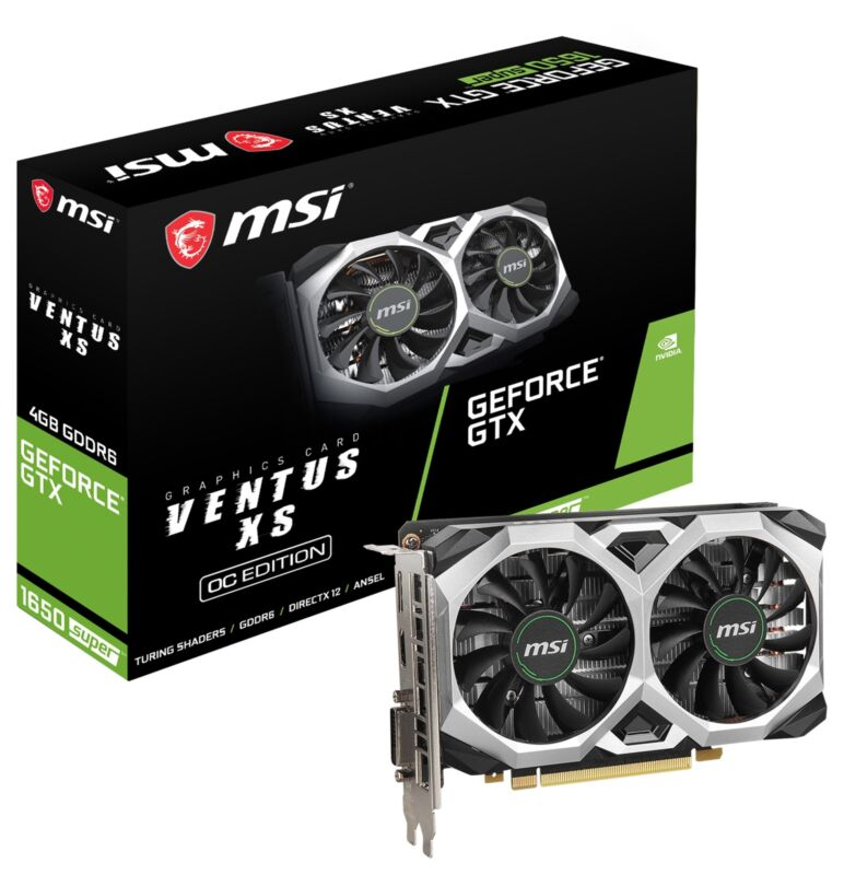 MSI GeForce GTX 1650 SUPER VENTUS XS OC Graphics Card, PCI-E, VR & 4K HDR Ready