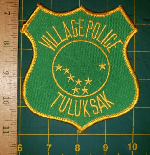 TULUKSAK VILLAGE POLICE PATCH ALASKA AK TRIBAL VERY OLD AND RARE ESKIMO NATIVE