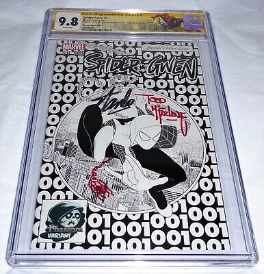 Spider-Gwen #1 CGC SS Signature Autograph STAN LEE MCFARLANE Signed & Sketch 9.8