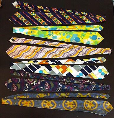 1960s – 70s Men's Ties | Skinny Ties, Slim Ties Vintage Mod 1960s 1970s Lot of 6 Men's Ties - (A3) - Silk, Acetate, John Weitz  $55.00 AT vintagedancer.com