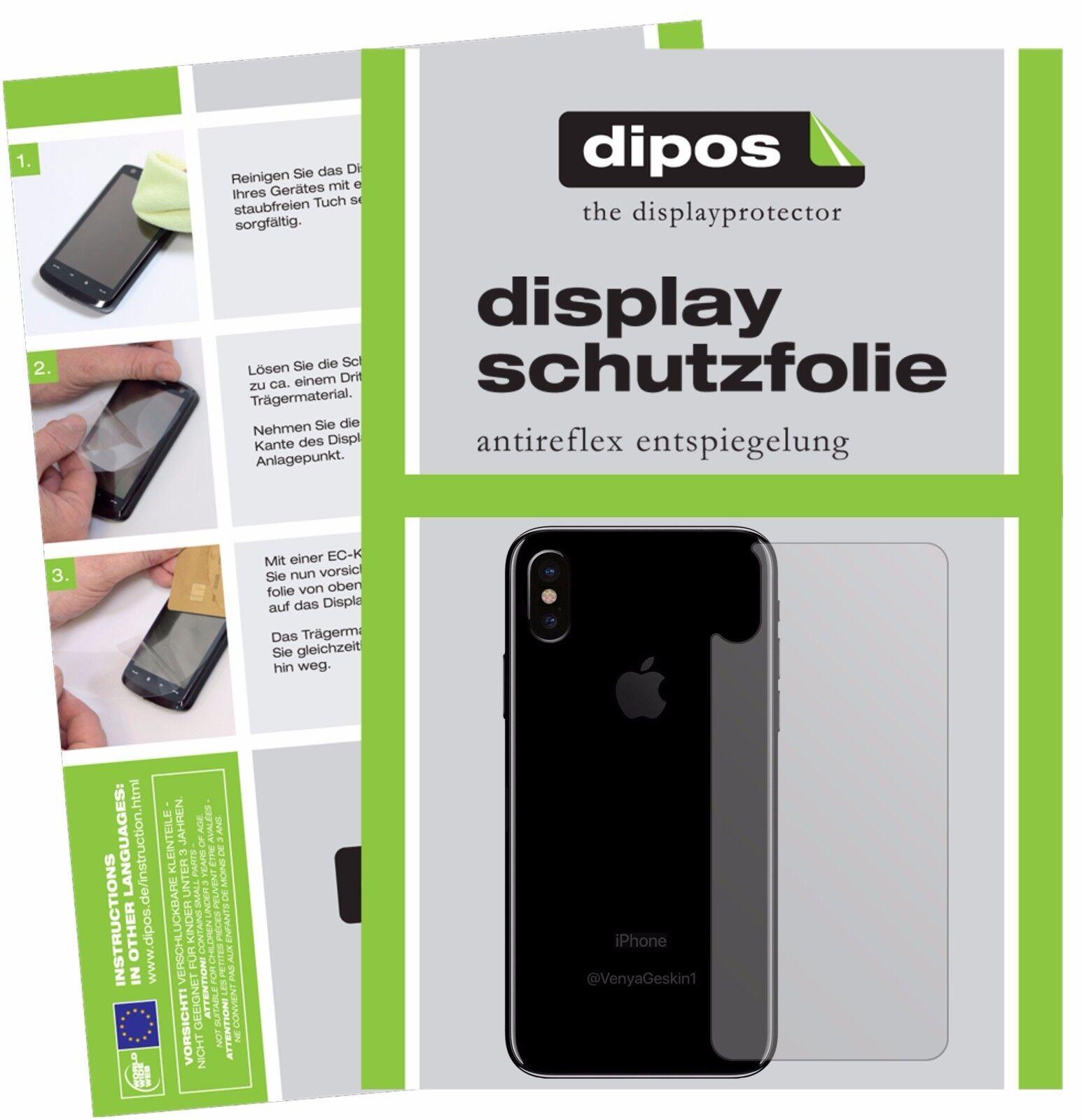 2x Apple iPhone X 10 posteriore Pellicola Protettiva Protezione Schermo Antirifl