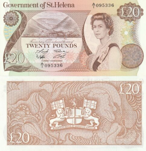 St Helena 20 pounds UNC ND(1986)