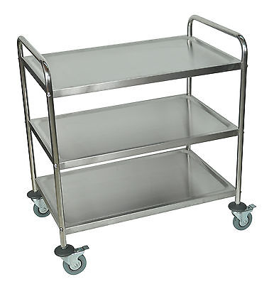 Luxor St-3 Stainless Steel Utility Cart 37 H X 33.5 W X 21 D New