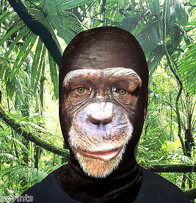 Painted Monkey Face Halloween (Monkey Design 3D Effect Lycra Fabric Face Mask Halloween Fancy Dress)