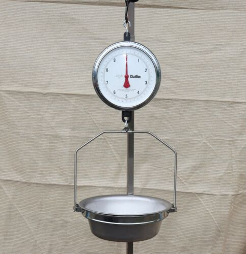 Chatillon 30lb 2 Sided Hanging Produce Scale 0024/A III w/ Pan 4200 Series LFT