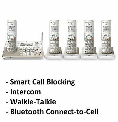 AT&T TL96487 DECT 6.0 5-Handset Cordless Phone System Call Block & Intercom