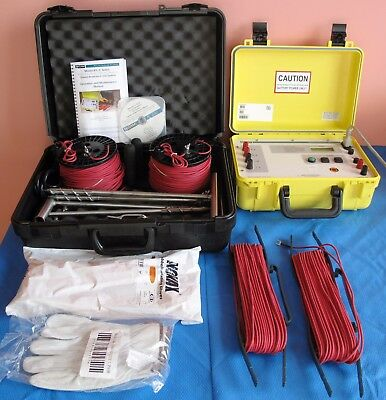 Tegam R1l-c Ground Resistance Tester With Tegam R1lc-910 Accessory Kit 2011